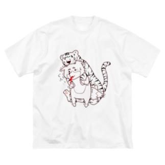 トラの威を借りきれてない狐。。。  その② Big silhouette T-shirts