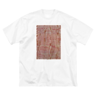 Graphic006 Woodpattern Pink Big silhouette T-shirts