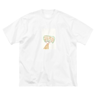 クレヨン女子 Big silhouette T-shirts