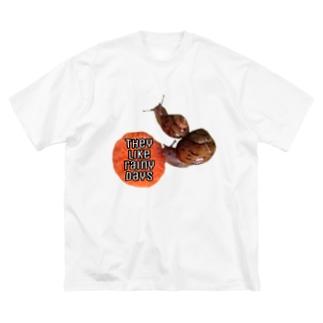 かたつむりん Big silhouette T-shirts