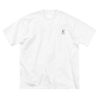 アイスガール Big silhouette T-shirts