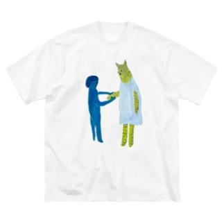 にぎにぎ Big silhouette T-shirts