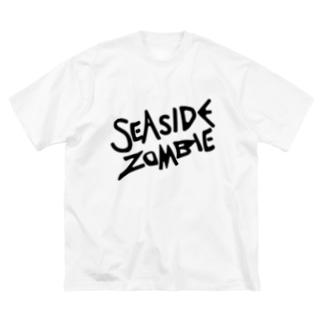 SEA SIDE ZOMBIE Big silhouette T-shirts