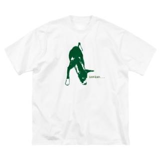 イタグレ✖️パピヨン犬 くんくんTシャツ Big silhouette T-shirts