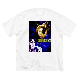 猫の惑星 Big silhouette T-shirts