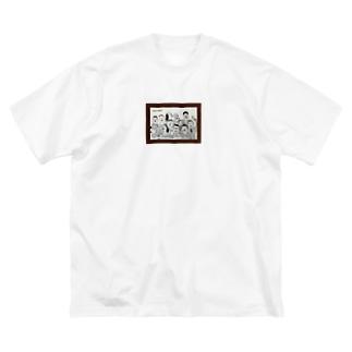 30〜50歳のおじさんたち Big silhouette T-shirts