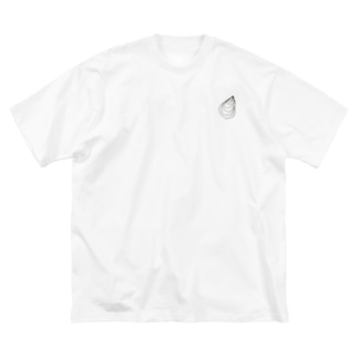 牡蠣ロンティー(文字入り) Big silhouette T-shirts