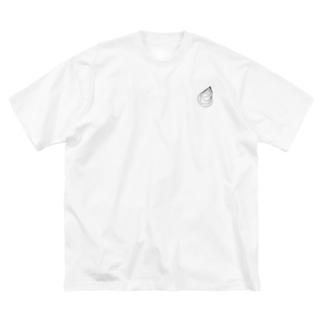 シンプル牡蠣 Big silhouette T-shirts
