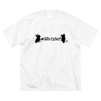 MARVELOUS コラボ Big silhouette T-shirts