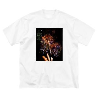 ぴ Big silhouette T-shirts