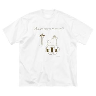 夏のかばさん Big silhouette T-shirts