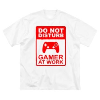 ゲームのジャマをするな Big silhouette T-shirts