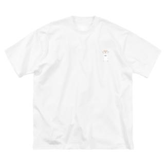強気な柴犬 Big silhouette T-shirts