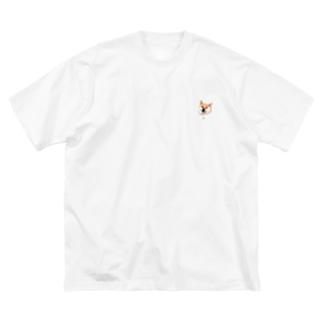 柴犬ふじこ Big silhouette T-shirts