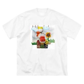 つみきハムショップの実写つみきハム Big silhouette T-shirts