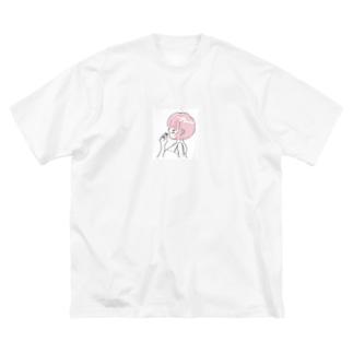 ほろ酔いガール Big silhouette T-shirts