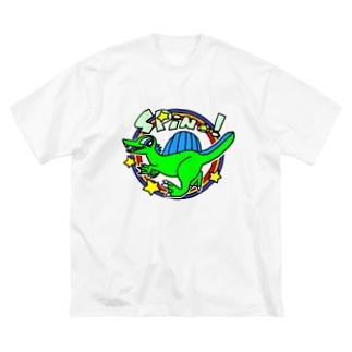 POP!スピノサウルス Big silhouette T-shirts