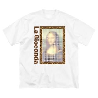 ことり屋のモナリザ Big silhouette T-shirts