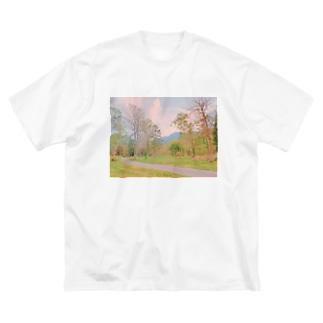 夕焼け Big silhouette T-shirts