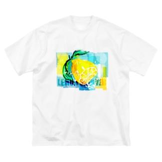 レモンシャワー Big silhouette T-shirts