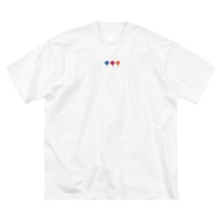 ゆるいアネモネ Big silhouette T-shirts