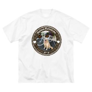 ゴールデンレトリバー キース Big silhouette T-shirts