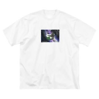 ダンボール宇宙CAT Big silhouette T-shirts