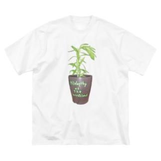 荒れアレ Big silhouette T-shirts