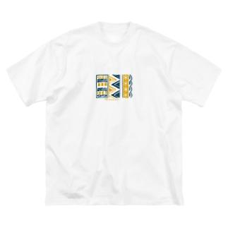 ツートンデザイン Big silhouette T-shirts