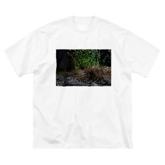 雑草 Big silhouette T-shirts