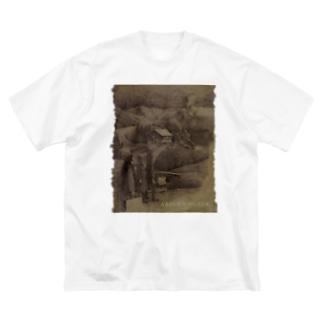 absurdBlack Big silhouette T-shirts