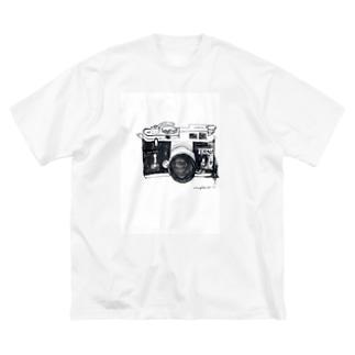 カメラ Big silhouette T-shirts