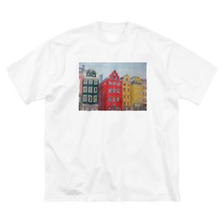 ストックホルム Big silhouette T-shirts