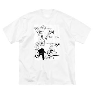 色々 Big silhouette T-shirts