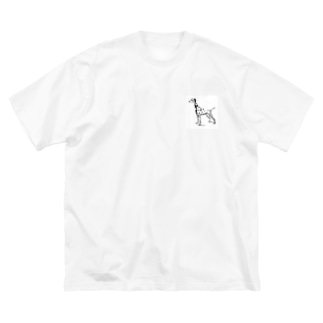 ダルメシアン Big silhouette T-shirts