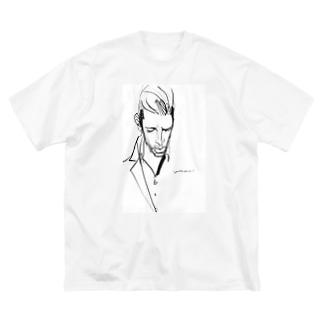 怪し気なおじさんTシャツvol.3 Big silhouette T-shirts