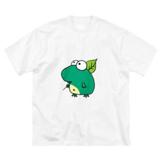 あまがえる Big silhouette T-shirts