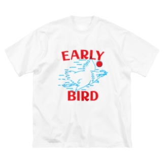 early birdくん Big silhouette T-shirts