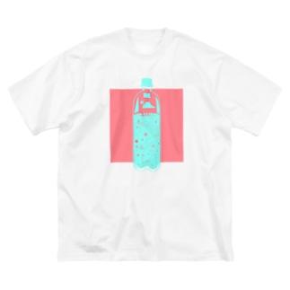 夏味サイダー Big silhouette T-shirts