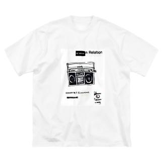 1980ラジカセ Big silhouette T-shirts