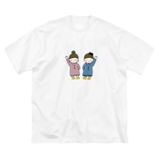 おんがくだいすき♯ちゃんと♭くん Big silhouette T-shirts