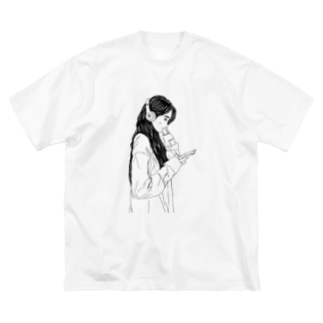 視聴女子 Big silhouette T-shirts