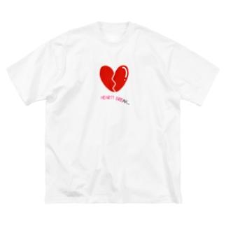ハートブレイク Big silhouette T-shirts