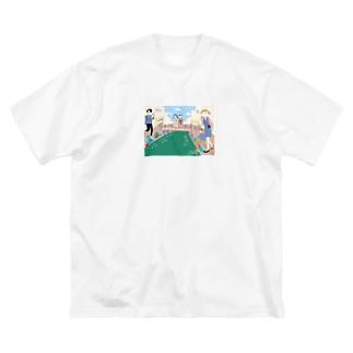 UNNYA × 宿とアンティークキモノ「長崎かがみや」 Big silhouette T-shirts