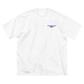 life with fuck Big silhouette T-shirts