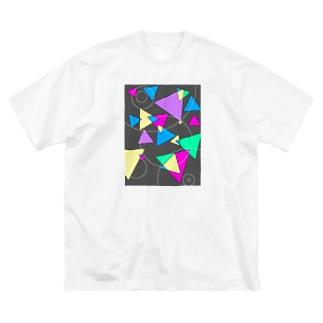 三角とマル Big silhouette T-shirts