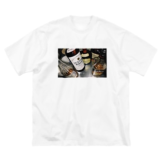 まあ飲めや Big silhouette T-shirts