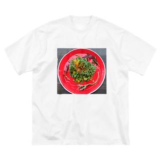 春菊とオレンジのサラダ Big silhouette T-shirts