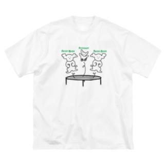 トランポリンわんこ Big silhouette T-shirts
