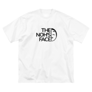 THE NOH'S FACE Big silhouette T-shirts